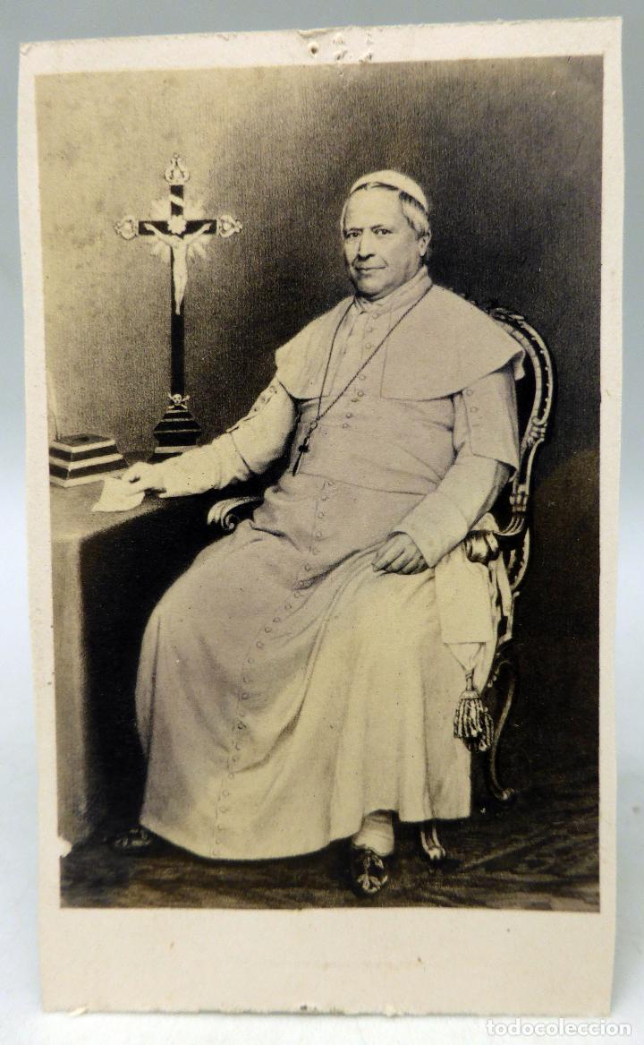 Carte Visite Fotografia Papa Pio IX Dopter Paris Hacia 1860 S XIX Con Autografo Impreso