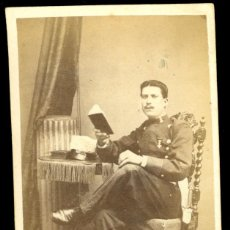 Fotografía antigua: MILITAR - 1870'S - JUAN VIDAL NAVARRA DE GERRI - FOTOGRAFÍA ARTÍSTICA - MADRID . Lote 94486102