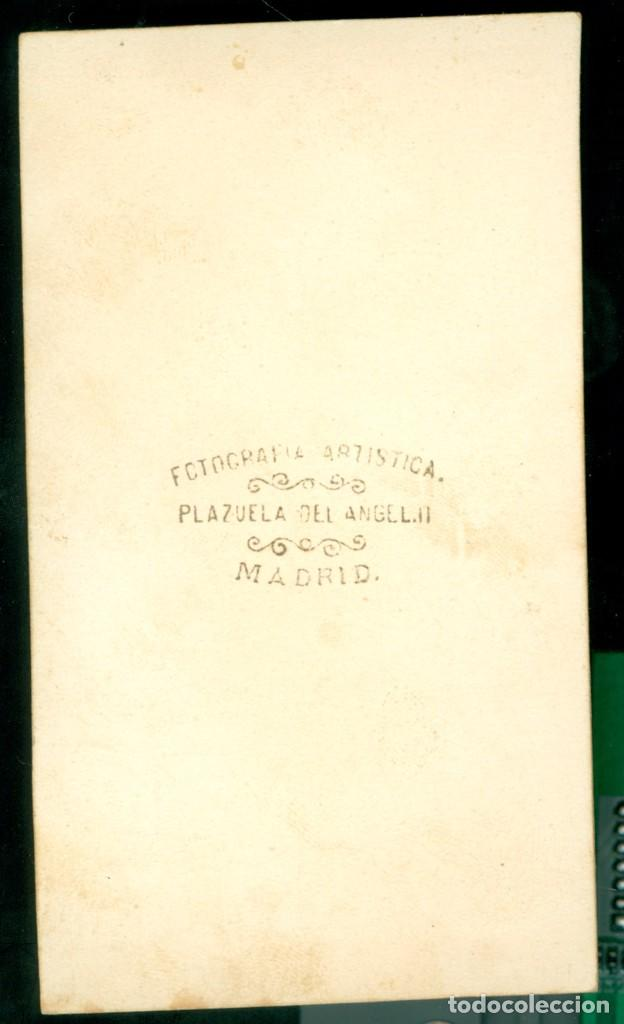 Fotografía antigua: MILITAR - 1870'S - JUAN VIDAL NAVARRA DE GERRI - FOTOGRAFÍA ARTÍSTICA - MADRID - Foto 2 - 94486102