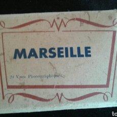 Fotografía antigua: ANTIGUO PEQUEÑO SOBRE MARSEILLE CON 20 VUES PHOTOGRAPHIQUES. Lote 95844448