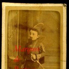 Fotografía antigua: MARQUÉS DE BERTRAN - 1870'S - VICENTE BERTRÁN DE LIS - NOBLEZA ESPAÑOLA . Lote 95847859