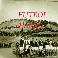 Fotografía antigua: FUTBOL - MONTJUÏC - 1921 - SPARTA DE PRAGA - POSITIU DE VIDRE . Lote 95848071