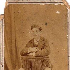 Fotografía antigua: FOTO CDV /CARTE DE VISITE. J. GUTIERREZ. MADRID 1882. Lote 96541271