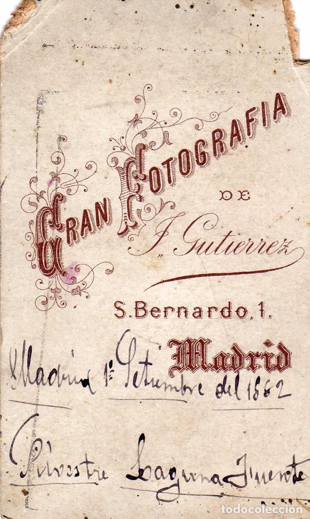 Fotografia Antigua FOTO CDV CARTE DE VISITE J GUTIERREZ MADRID 1882
