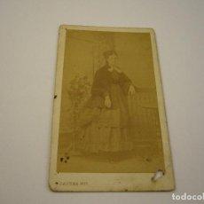 Fotografía antigua: FOTO DAMA A IDENTIFICAR . CARTE DE VISITA . R. GAUTIER . SIGLO XIX . 10 X 6 CM. APROX.FIRMADA . Lote 97432295