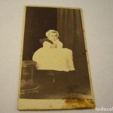 Fotografía antigua: FOTO BEBE . NAPOLEON, BARCELONA . . SIGLO XIX . 10 X 6 CM.APROX.. Lote 100065443