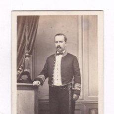 Fotografía antigua: RETRATO CDV DE EMBAJADOR, DIPLOMÁTICO O MOSSO D'ESQUADRA, SIN DATOS REVERSOS. 1860'S.. Lote 100129971