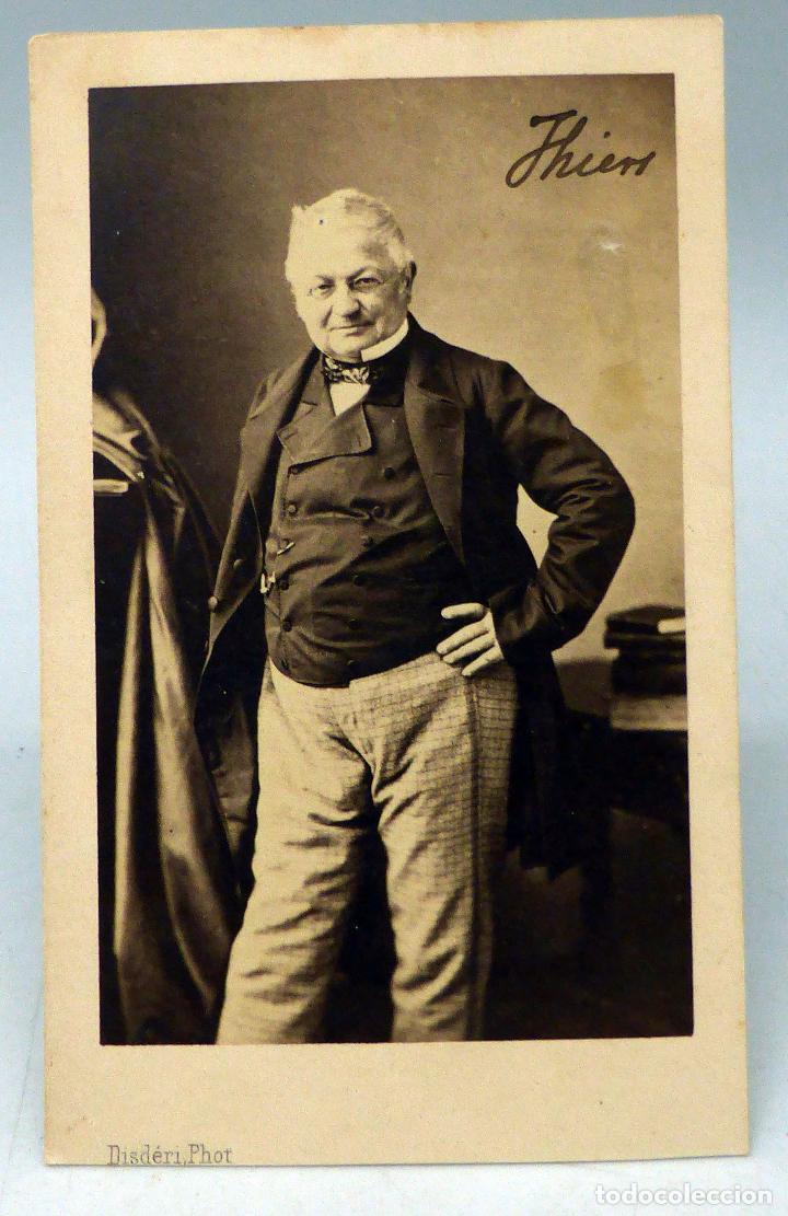 Carte Visite Fotografa Adolphe Thiers Disderi Pars Hacia 1860 S XIX