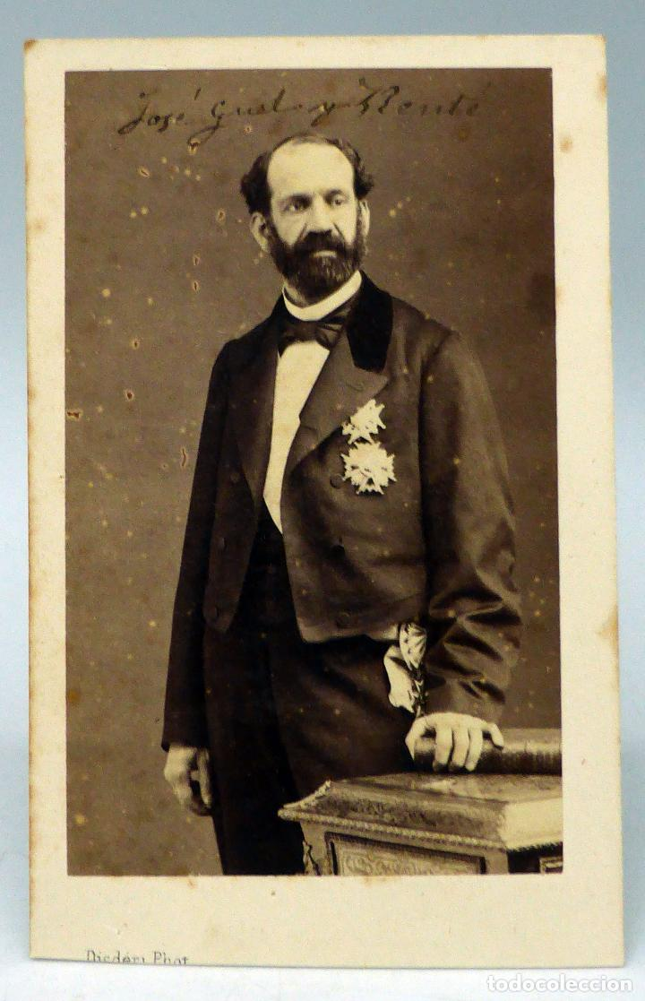 Carte Visite Fotografa Jos Gell Y Rent Disderi Pars Hacia 1860 S XIX