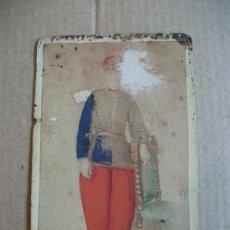 Fotografía antigua - CDV DE MILITAR DEL SIGLO XIX. DE ARAMBURU, SEVILLA. COLOREADA - 100647999