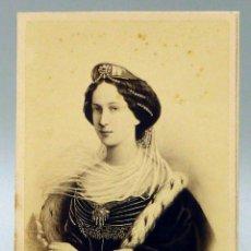 Fotografía antigua: CARTE VISITE FOTOGRAFÍA EMPERATRIZ DE RUSIA NEURDEIN PL BOURSE PARÍS HACIA 1860 S XIX. Lote 100735907