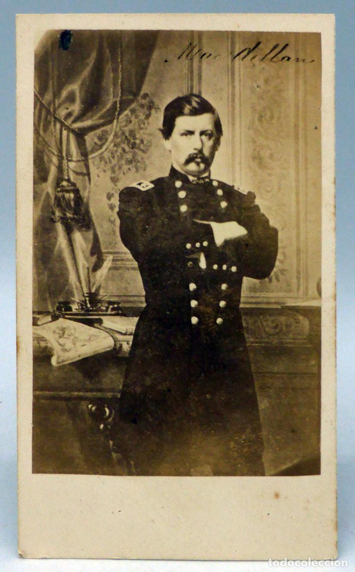 Carte Visite Fotografia Mac Dellan Uniforme John Clarck Hacia 1860 S XIX