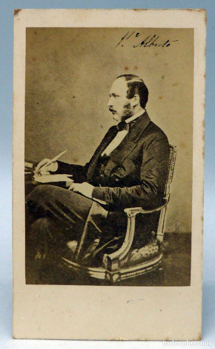 CARTE VISITE FOTOGRAFIA PRINCIPE ALBERTO INGLATERRA COSORTE REINA VICTORIA JOHN CLARCK HACIA 1860 Fotografia Antigua