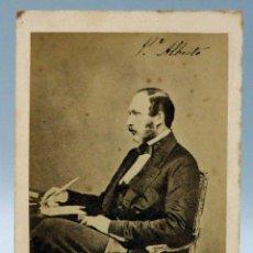 Fotografía antigua: CARTE VISITE FOTOGRAFÍA PRÍNCIPE ALBERTO INGLATERRA COSORTE REINA VICTORIA JOHN CLARCK HACIA 1860. Lote 101276211