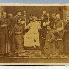 Fotografia antica: CARTE VISITE FOTOGRAFÍA PAPA PÍO IX CON CARDENALES JOHN CLARCK HACIA 1860 S XIX. Lote 101276419