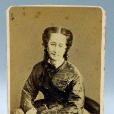 Fotografía antigua: CARTE VISITE FOTOGRAFÍA EUGENIA DE MONTIJO EMPERATRIZ THIEBAULT PARÍS HACIA 1860 S XIX. Lote 101455531
