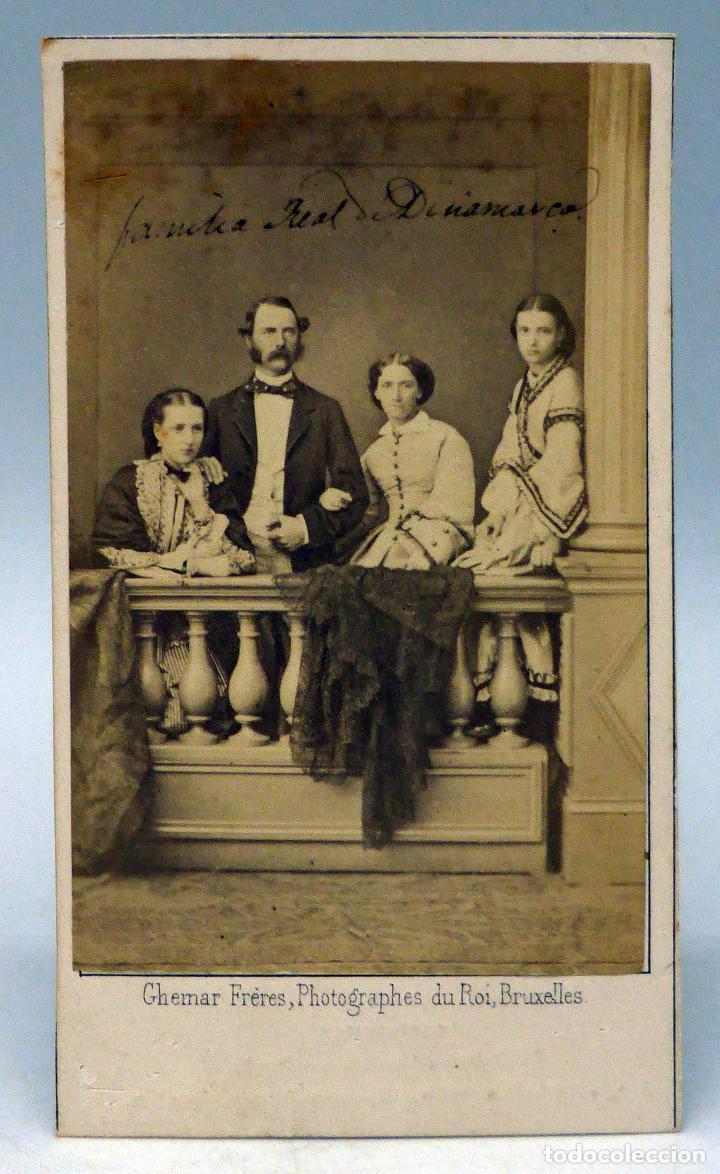 CARTE VISITE FOTOGRAFIA FAMILIA REAL DINAMARCA REYES GHEMAR FRERES BRUXELLES HACIA 1860 S XIX Fotografia