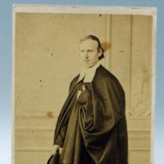 Fotografía antigua: CARTE VISITE FOTOGRAFÍA ABOGADO TOGA SIN NOMBRE ESTUDIO HACIA 1870 S XIX. Lote 101463479