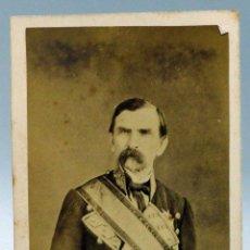Photographie ancienne: CARTE VISITE FOTOGRAFÍA TENIENTE GENERAL DOMINGO DULCE Y GARAY CARLISMO J LAURENT HACIA 1860 S XIX. Lote 101463747