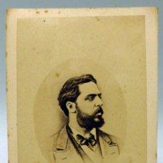 Fotografía antigua: CARTE VISITE FOTOGRAFÍA DON CARLOS VII BORBÓN PRETENDIENTE CARLISMO SIN NOMBRE ESTUDIO HACIA 1870. Lote 101469643