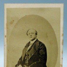 Fotografía antigua: CARTE VISITE FOTOGRAFÍA MARQUÉS DE SALAMANCA JOSÉ SALAMANCA Y MAYOL SIN NOMBRE ESTUDIO HACIA 1875 . Lote 101470315