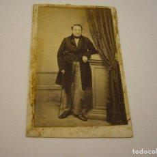 Fotografía antigua: FOTO CABALLERO A IDENTIFICAR . FOTOGRAFO HOSTENC . SIGLO XIX . 10 X 6 CM.APROX.. Lote 103486839