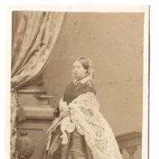Fotografía antigua: FOTOGRAFÍA TIPO CDV DE LA REINA VICTORIA DE INGLATERRA 1 DE MARZO 1861 - MAYALL LONDON ALBUMINA. Lote 103503527