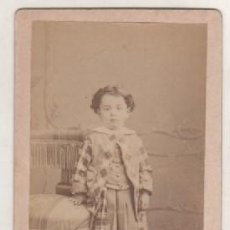 Fotografía antigua: TARJETA DE VISITA ALBUMINA FOTOGRAFÍA FLEURQUIN MONTEVIDEO ESPECIALIDAD EN RETRATOS DE NIÑOS. Lote 105014911