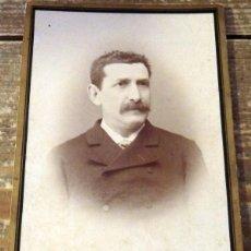 Fotografía antigua: GRANADA, ESPECTACULAR CDV DE UN CABALLERO GRANADIN0,SIGLO XIX, FOT.JUAN TORRES 110X170MM. Lote 105168603