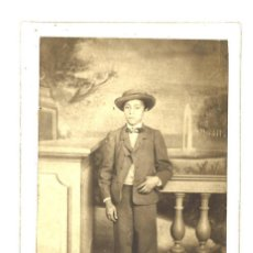 Fotografía antigua - CDV. Niño con sombrero. - 105469615