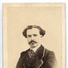 Fotografía antigua: FOTOGRAFÍA RETRATO CABALLERO A. ALONSO MARTÍNEZ Y HERMANO. CA. 1860. Lote 107217771