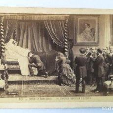 Fotografía antigua: CDV MUERTE DEL EMPERADOR NAPOLEON III FOTOMONTAJE 1873 POR FLAMANT. Lote 107430307