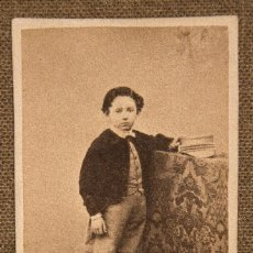 Fotografía antigua: TARJETA DE VISITA SIGLO XIX CON FOTO DE NIÑO. LA CORUÑA. Lote 109398243