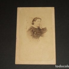 Fotografía antigua: CORDOBA CARTE DE VISITE RETRATO DE DAMA HACIA 1870 J. H. DE TEJADA FOTOGRAFO CARRETERAS 3 CORDOBA. Lote 109478991