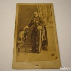 Fotografía antigua: FOTO DE MILITAR A IDENTIFICAR . FOTOGRAFO JUDEZ , ZARAGOZA . SIGLO XIX . 10 X 6 CM.. Lote 109537843