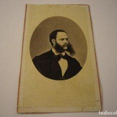 Fotografía antigua: FOTO DE CABALLERO A IDENTIFICAR, CONDE DE VERNAY . SIGLO XIX 10 X 6 CM.. Lote 109538235