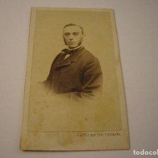 Fotografía antigua: FOTO DE CABALLERO A IDENTIFICAR, ALONSO MARTINEZ Y HERMANO . SIGLO XIX 10 X 6 CM.. Lote 109538683