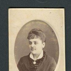 Fotografía antigua: DAMA. F: J. MARTÍ. BCN. C.1880. Lote 109992367