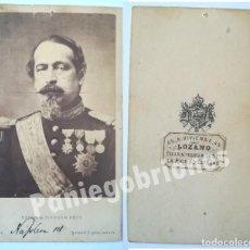Fotografía antigua: RARO CDV LOZANO PROVEEDOR DE LA REINA ISABEL II DE ESPAÑA - EMPERADOR NAPOLEON III MAYER & PIERSON. Lote 110116731