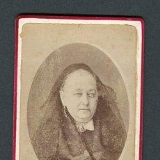 Fotografía antigua: DAMA. F: J. MARTÍ. BCN. C. 1875. Lote 110301151