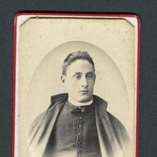 Fotografía antigua: CURA. F: G. LARAUZA. BCN. C. 1875. Lote 110301459