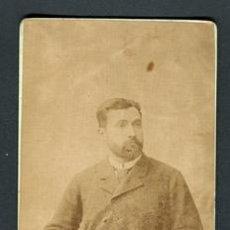 Fotografía antigua: CABALLERO. F: NAPOLEON. BCN. C. 1880. Lote 110302479