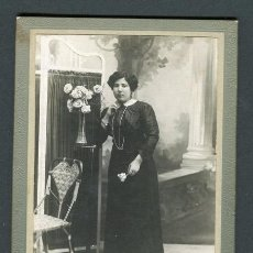 Fotografía antigua: MODERNISMO. RETRATO DE SEÑORA. F: J. ALONSO. BCN. C.1900. Lote 110566015