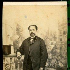 Fotografía antigua: RETRATO - 1880'S - MR. HOSTENC . Lote 110820887