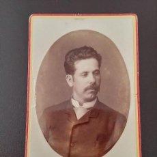 Fotografía antigua: FOTOGRAFIA ALBUMINA TIPO CDV DE CABALLERO, FOTO J.G. AYOLA, GRANADA, MIDE 10,5 X 6 CMS.. Lote 110896827