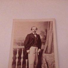 Fotografía antigua: ALBUMINA CARTE VISITE FOTOGRAFIA CABALLERO, FOTOGRAFO M.HEBERT FINALE S. XIX. Lote 111028435