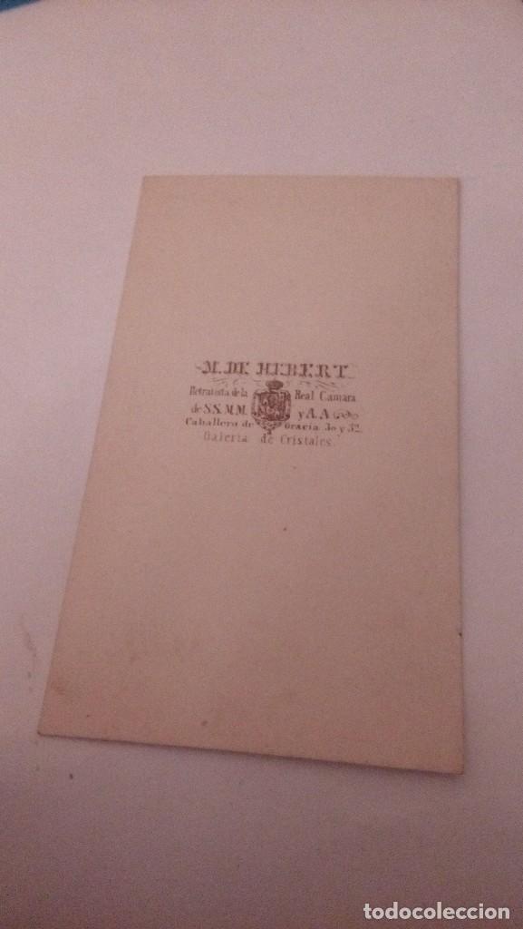 Fotografía antigua: albumina carte visite fotografia caballero, fotografo m.hebert finale S. XIX - Foto 2 - 111028435