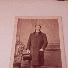 Fotografía antigua: ALBUMINA CARTE VISITE FOTOGRAFIA CABALLERO,DURONI MURER,PARIS,MILAN, FINALE S. XIX. Lote 111032583