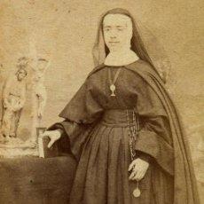 Fotografía antigua: MADRID. MONJA. F: H. GAUTIER. DELICADA CDV DE MONJA. C. 1865. Lote 112382223