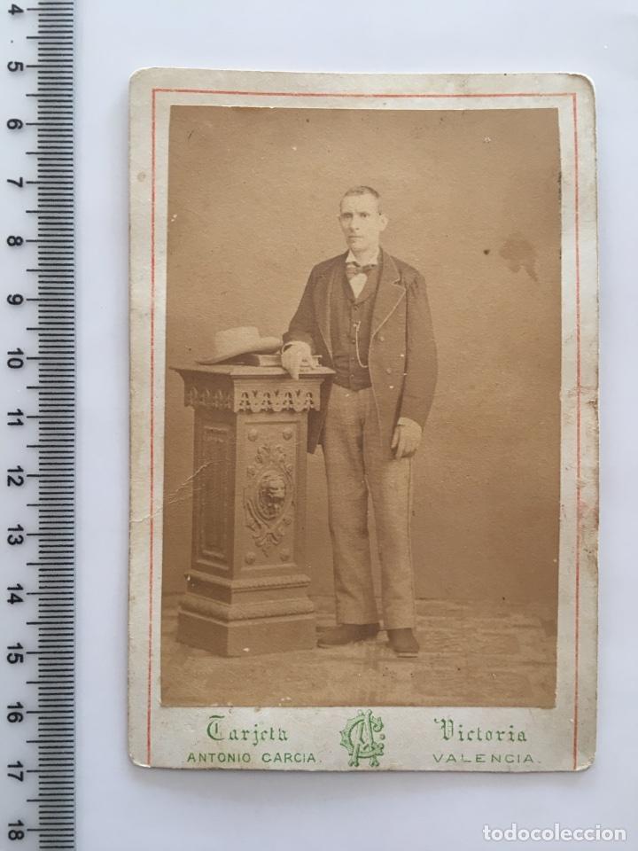 TARJETA VICTORIA FOT ANTONIO GARCIA VALENCIA H 1900 Fotografia